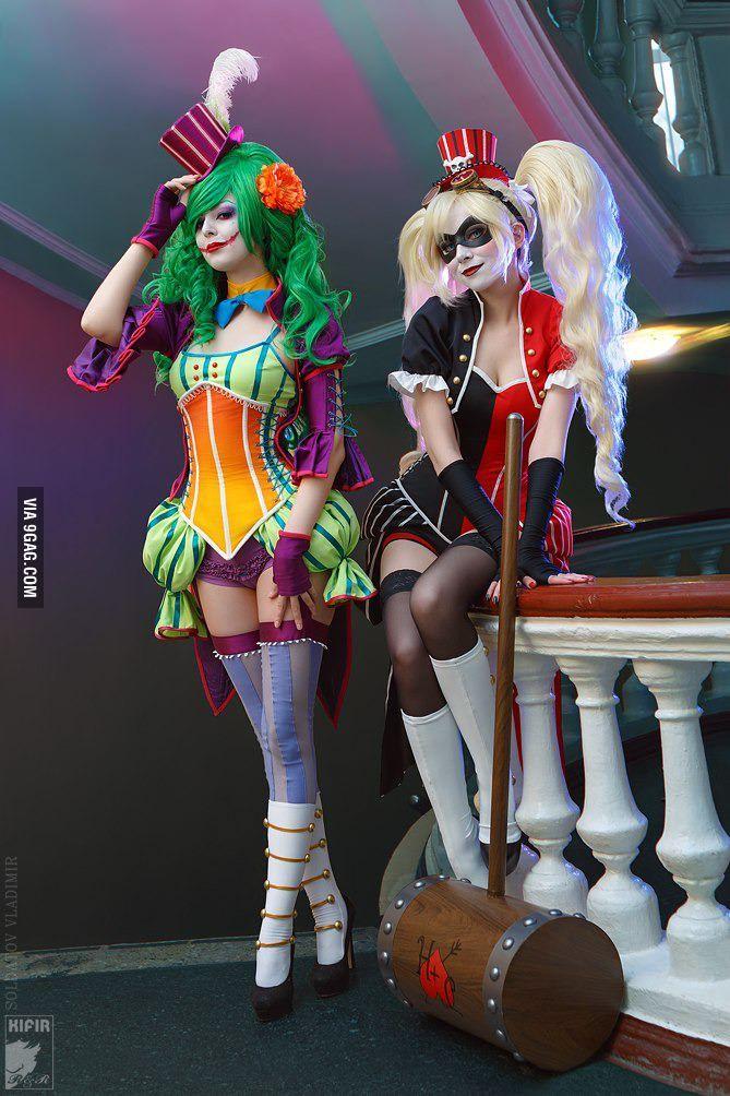 Harley and fem Joker
