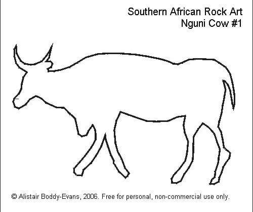 Southern African Rock Art: Nguni Cow #1