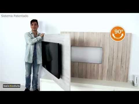 MUEBLE TELEVISION GIRATORIO mod.103 - YouTube