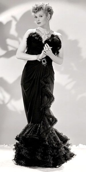 Lucille Ball, so classy & beautiful!