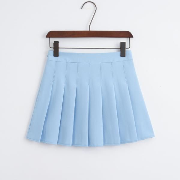 Ruffled High Waisted Skirts Pleated Tennis Skirt Mini Skirts White Pleated Tennis Skirt