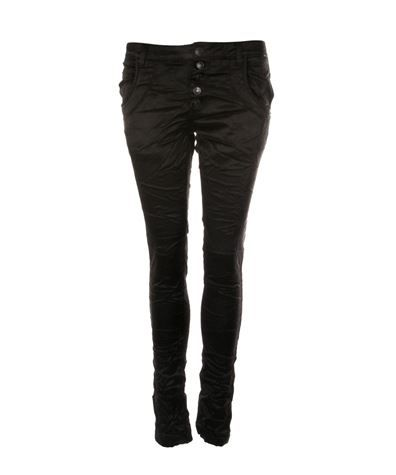 Bianco Boyfriend Pants Black Solid via www.jenterommet.no