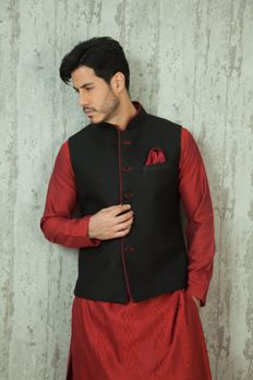 Linen jacket with quilting design on fabric from #Benzer #Benzerworld #menswear