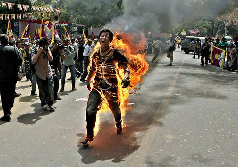 Manish Swarup/Jampa Yeshi, a Tibetan protester self-immolated in New Delhi, ahead of Chinese President Hu Jintao's visit to India, March 26, 2012.