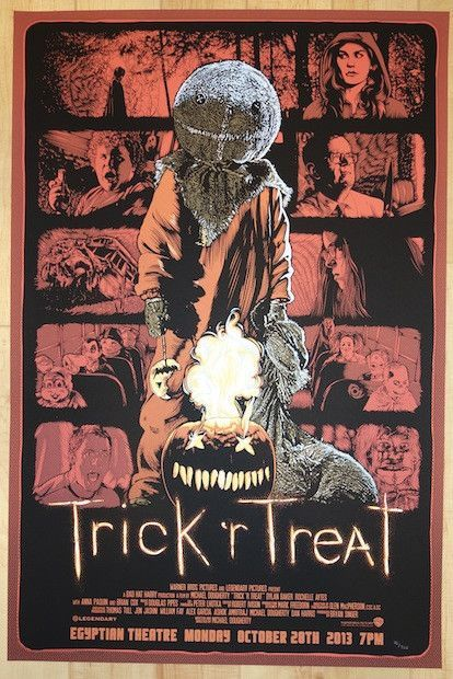 "2013 ""Trick 'r Treat"" - Silkscreen Movie Poster by James Fosdike"