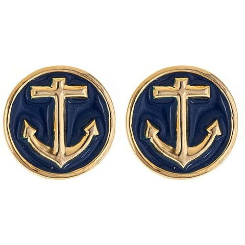 Navy anchor studs, we carry these as rings! https://www.facebook.com/ClothesInThePastLane