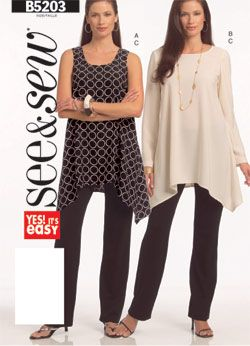 Looks great for all seasons... love flowy tops! SewingPatterns.com