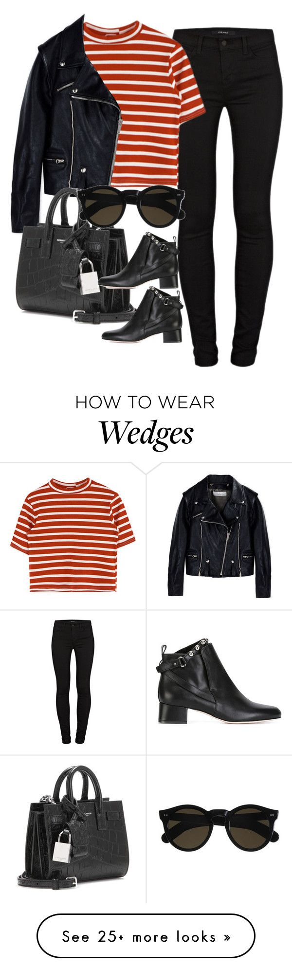 """Untitled #3265"" by glitter-the-world on Polyvore featuring J Brand, Golden Goose, Yves Saint Laurent, Beau Coops and RED Valentino"