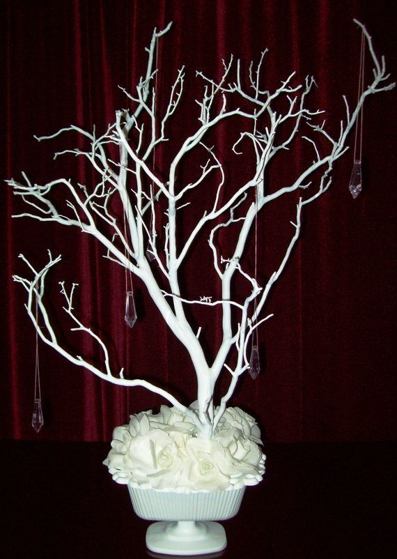 Branch decorating ideas crystal tree wishing