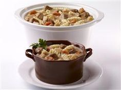 Slow Cooker Stroganoff using Dinty Moore Beef Stew