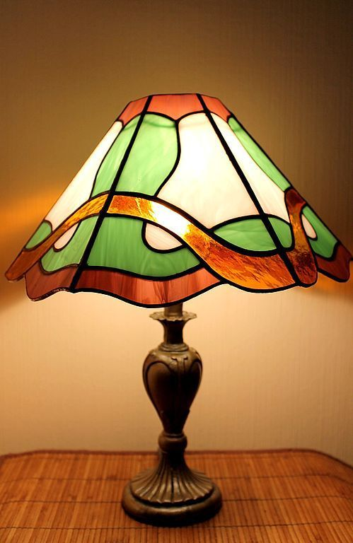Купить Витражная Лампа Весенний Вальс - Витраж Тиффани, освещение, для спальни, классический дизайн
