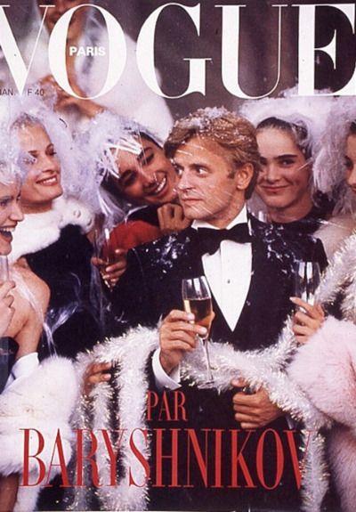 Mikhail Baryshnikov by Guy Bourdin. Vogue Paris - December 1986/1987.