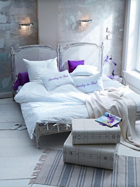 Arredare la camera da letto con il viola… 51 idee