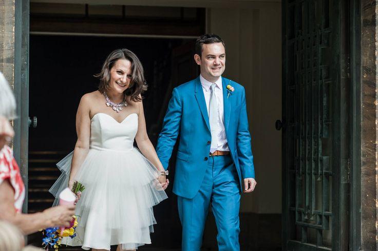 Short Wedding Dresses, strapless full skirt, knee length wedding dress – Tobi Hannah