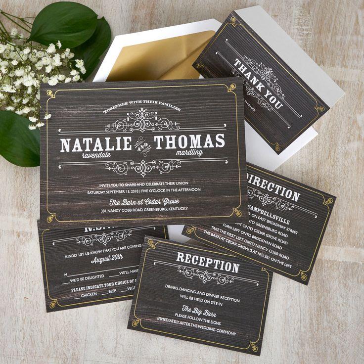 Best  Chalkboard Wedding Invitations Ideas On