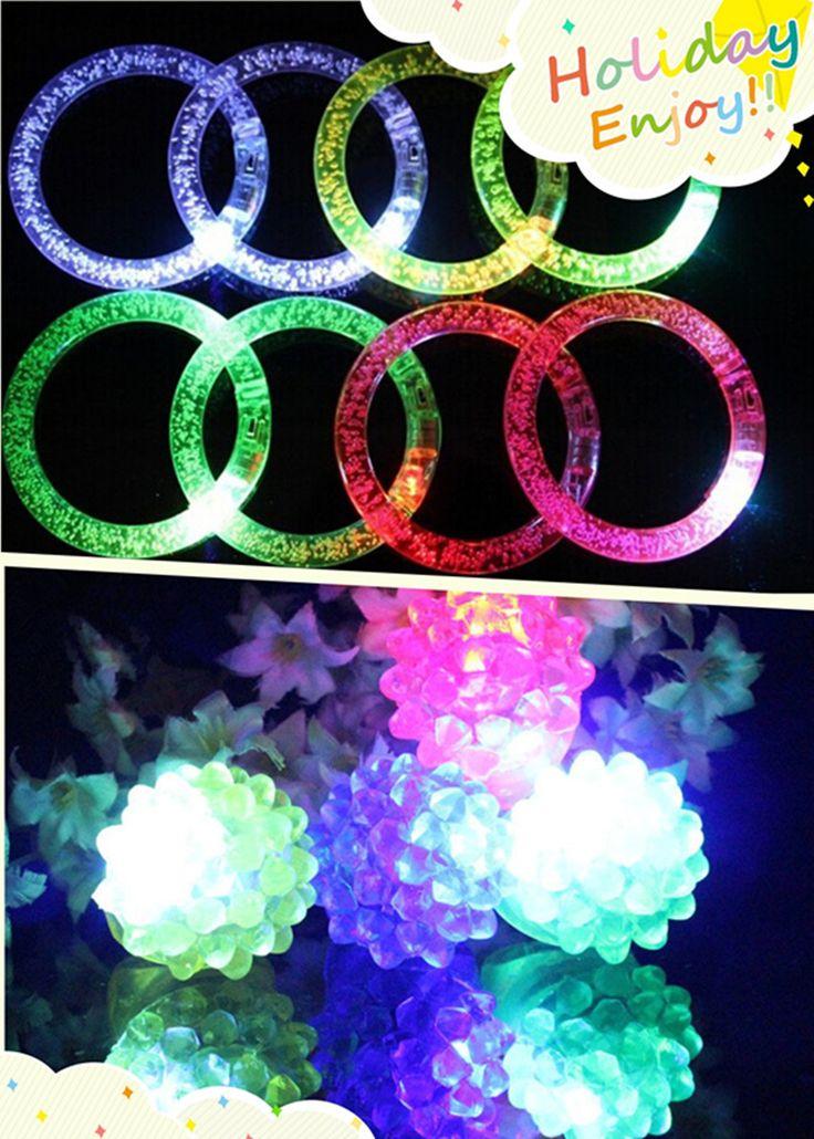 50 шт./лот различные цвета мигает пена wristhand + 50 шт./лот клубника кольцо игрушки для бар KTV партии счастливые часы