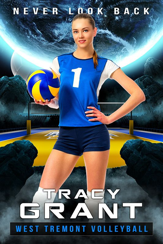 player banner photo template space volleyball photography