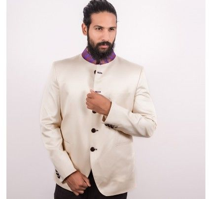 """Antique Design Jacket Routeen Party Wear Mens Waist Coat  """"Occasion: Festive, Ceremony & Ethnic Wear Wash Care : Dry Clean Only Styling: Slim Fit Material: Fabric Size : Medium Stand out in the next book launch with this ethnic jacket from Routeen. Made from jute , this sleeveless jacket has mandarin collar. You can team this jacket with Indo-western wear and look smart."""" Buy Now : http://www.antiquefashionhub.com/men/jackets-blazers-for-men.html"""