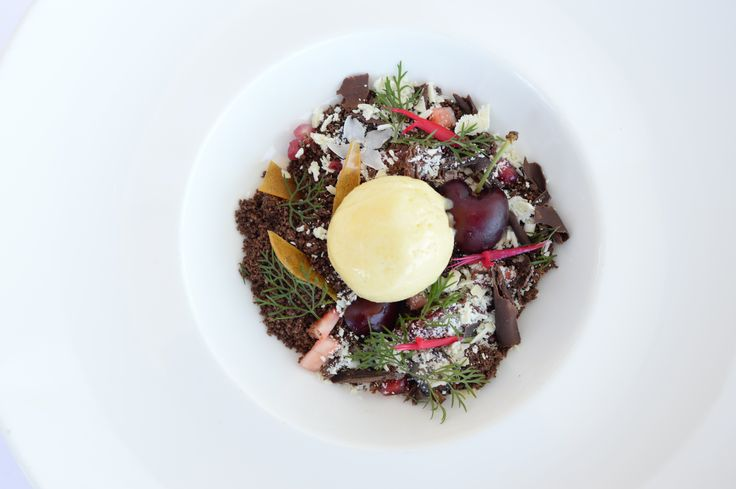 White forest with Zokoko chocolate, chambord berries and fennel. Delish!