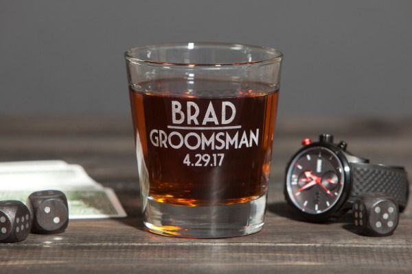 custom name groomsmen glasses gift