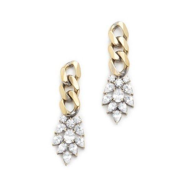 Iosselliani Agnes Earrings (16,255 INR) ❤ liked on Polyvore featuring jewelry, earrings, iosselliani, brass jewelry, iosselliani jewelry, brass earrings and earring jewelry