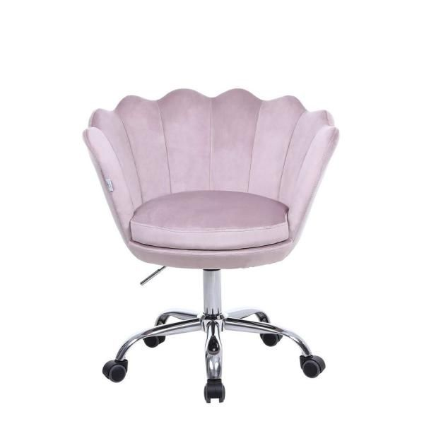 Boyel Living Pink Velvet Swivel Office Desk Chair Shell Height Adjustable Accent Chair With 360 Degree Castor Wheels Wf Hfsn 109p The Home Depot In 2020 Office Desk Chair Pink Desk Chair Chair