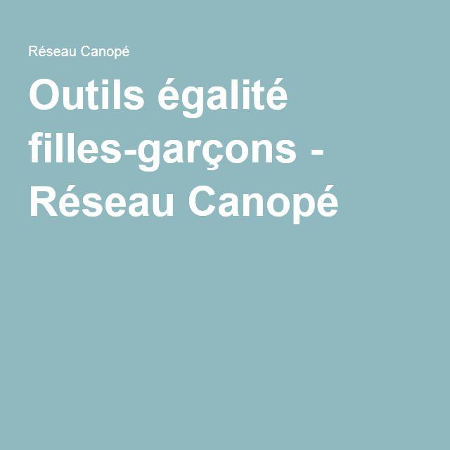 Outils égalité filles-garçons - Réseau Canopé