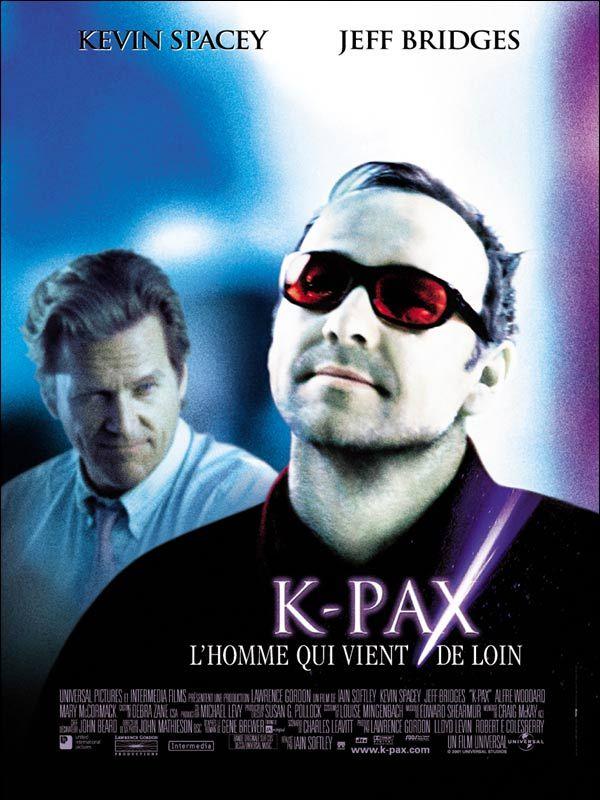 K-Pax, l'homme qui vient de loin est un film de Iain Softley avec Kevin Spacey, Jeff Bridges. Entre le conte philosophique et l'enquête psychanalytique, un film à suspens qui nous tient en haleine jusqu'à la dernière minute