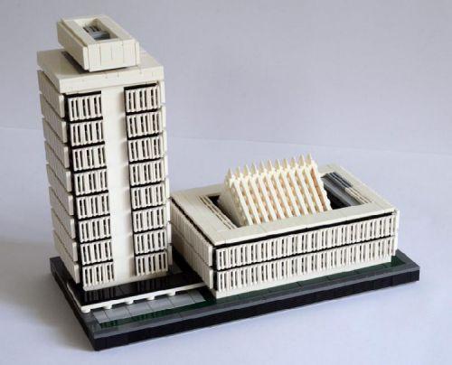 Malaysian Parliament Building (Bangunan Parlimen Malaysia): A LEGO® creation by Joe Yuen : MOCpages.com