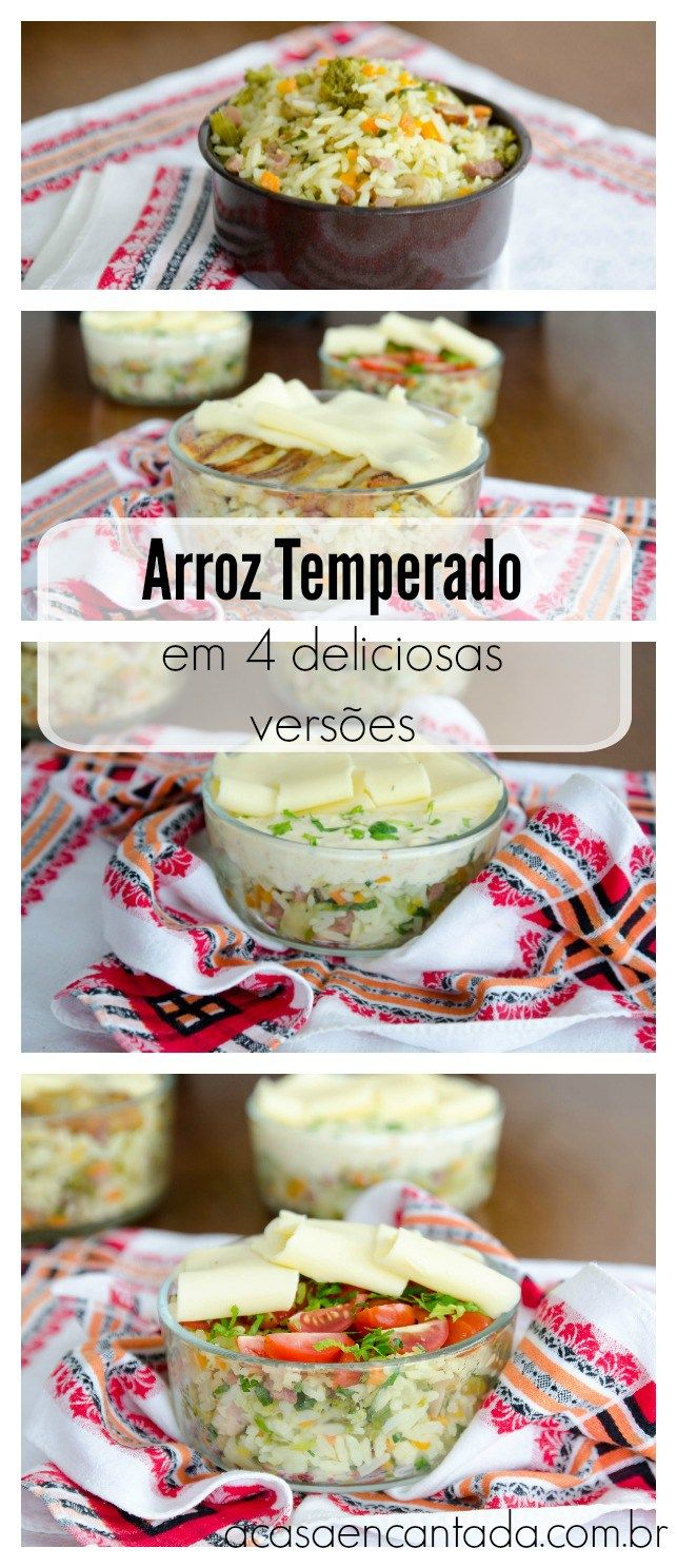 Arroz temperado em 4 deliciosas versões - acasaencantada.com.br