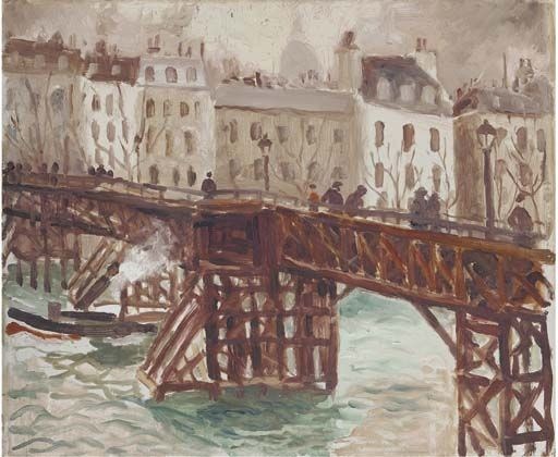 Christopher Wood, Wooden Bridge on the Seine