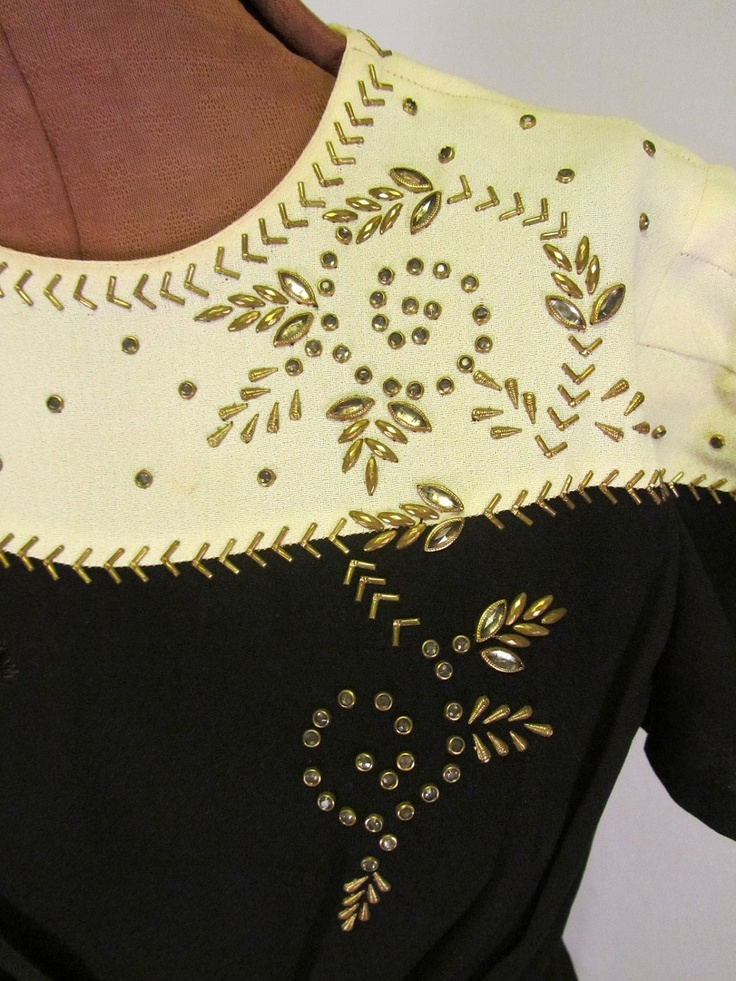 Vintage 1940's Beaded Gown