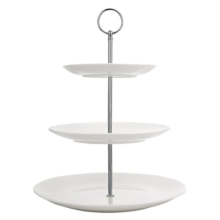 John Lewis Croft Collection Luna 3 Tier Cake Stand, White