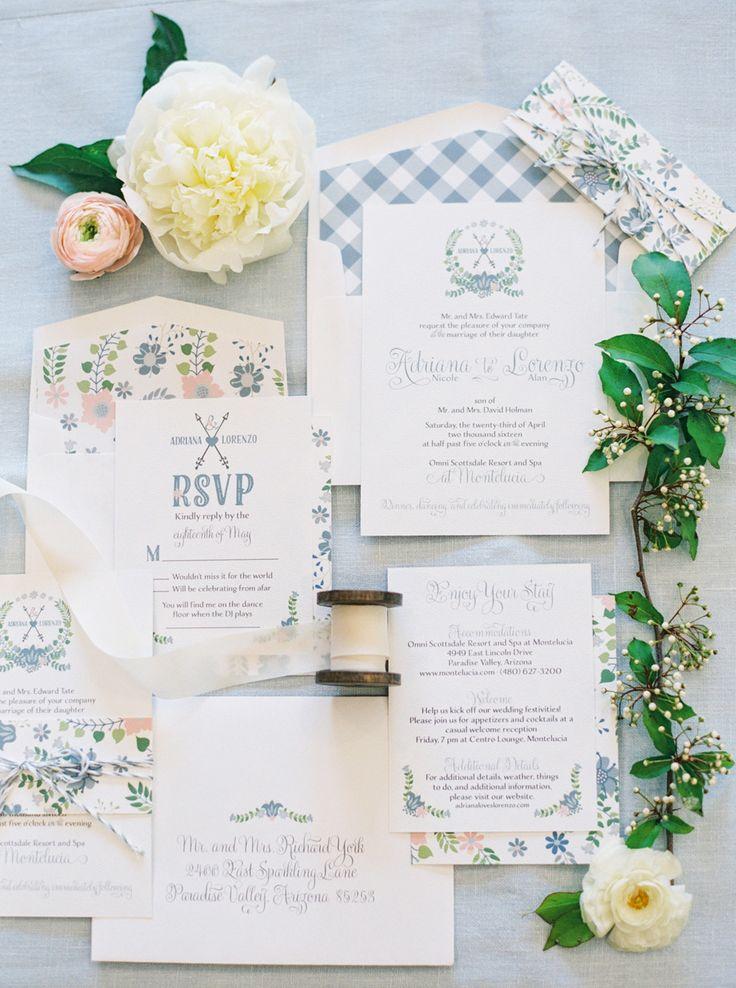 confetti daydreams wedding invitations%0A Pretty pastel invitation suite   Style Me Pretty   Foodie brides  everywhere  get ready to