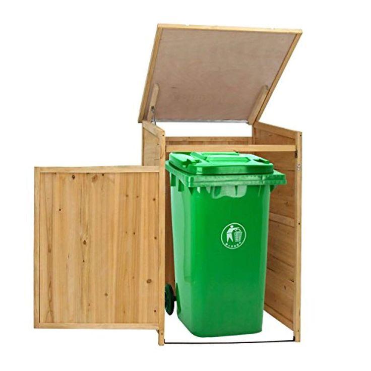 Kinbor Outdoor Garbage Storage Shed Trash Can Enclosure