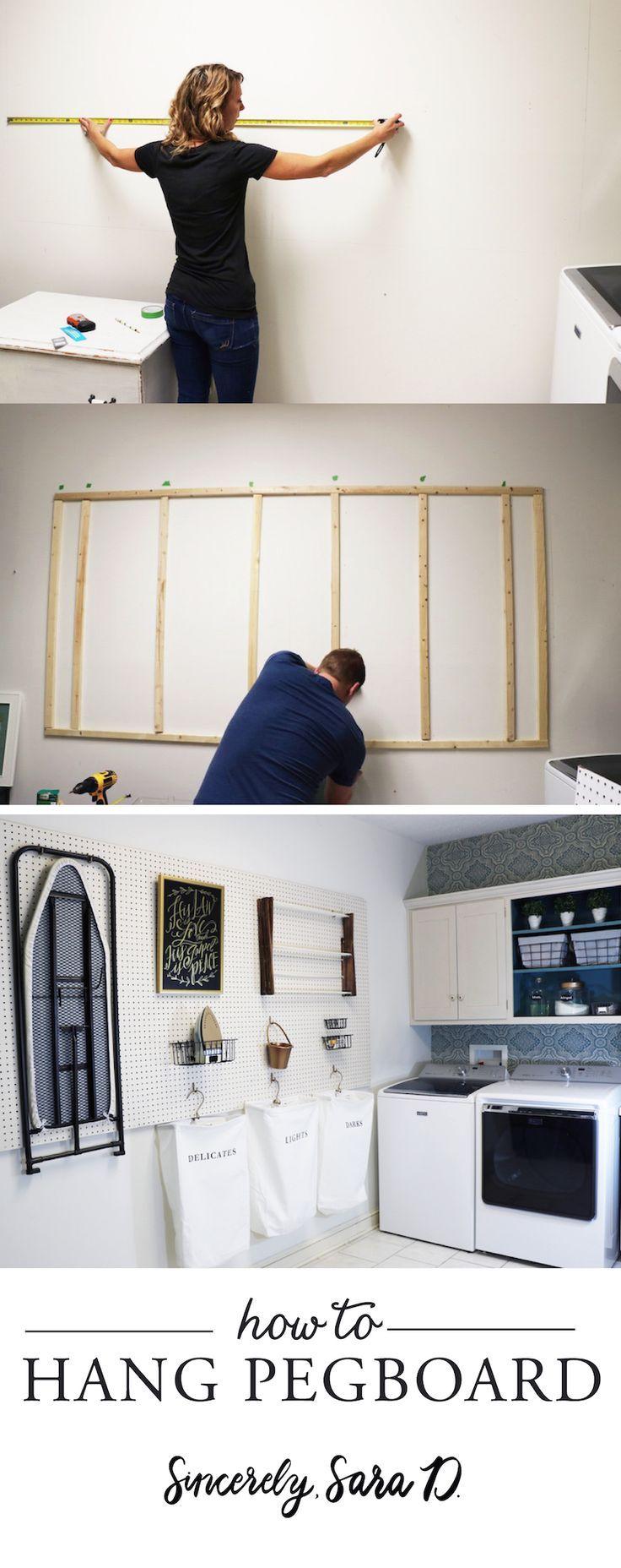 DIY Wäscherei Zimmer Pegboard zimmer wascherei pegboard