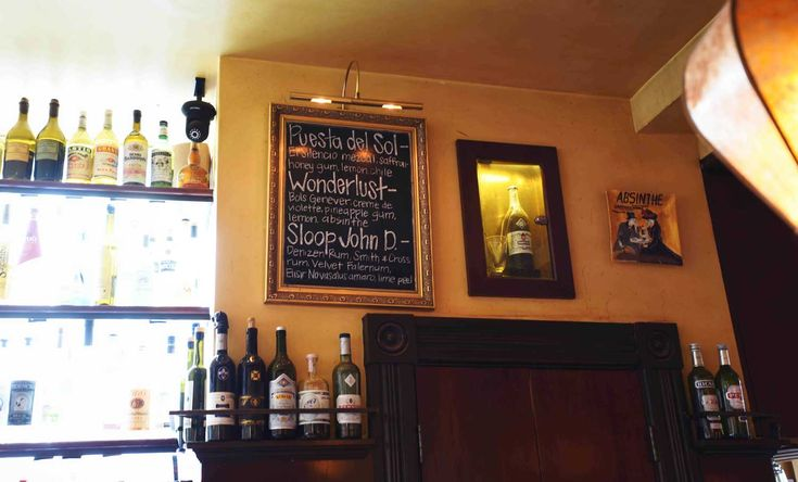 Specialty drinks are served nightly at Absinthe's upscale bar