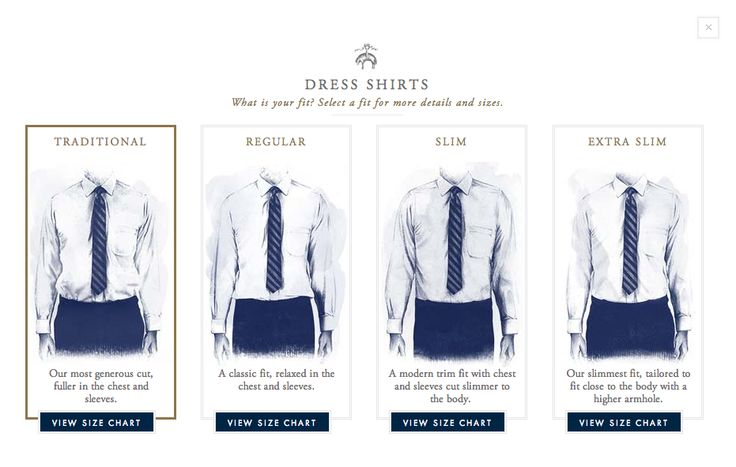 Brooks brothers shirt fit guide 2nd rodeo for Slim fit shirt size chart