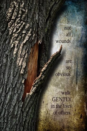 Walk Gently In The Lives of Others.