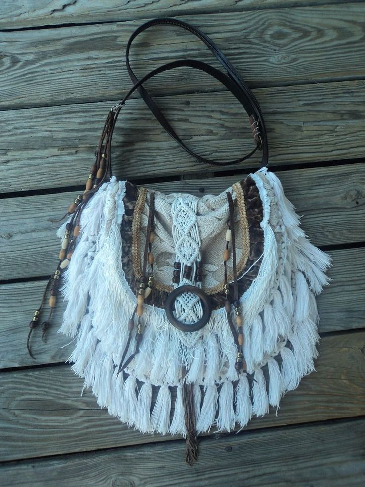 Handmade Cross Body Boho Bag Gypsy Purse Hippie Beaded Fringe Western tmyers  #Handmade #MessengerCrossBody