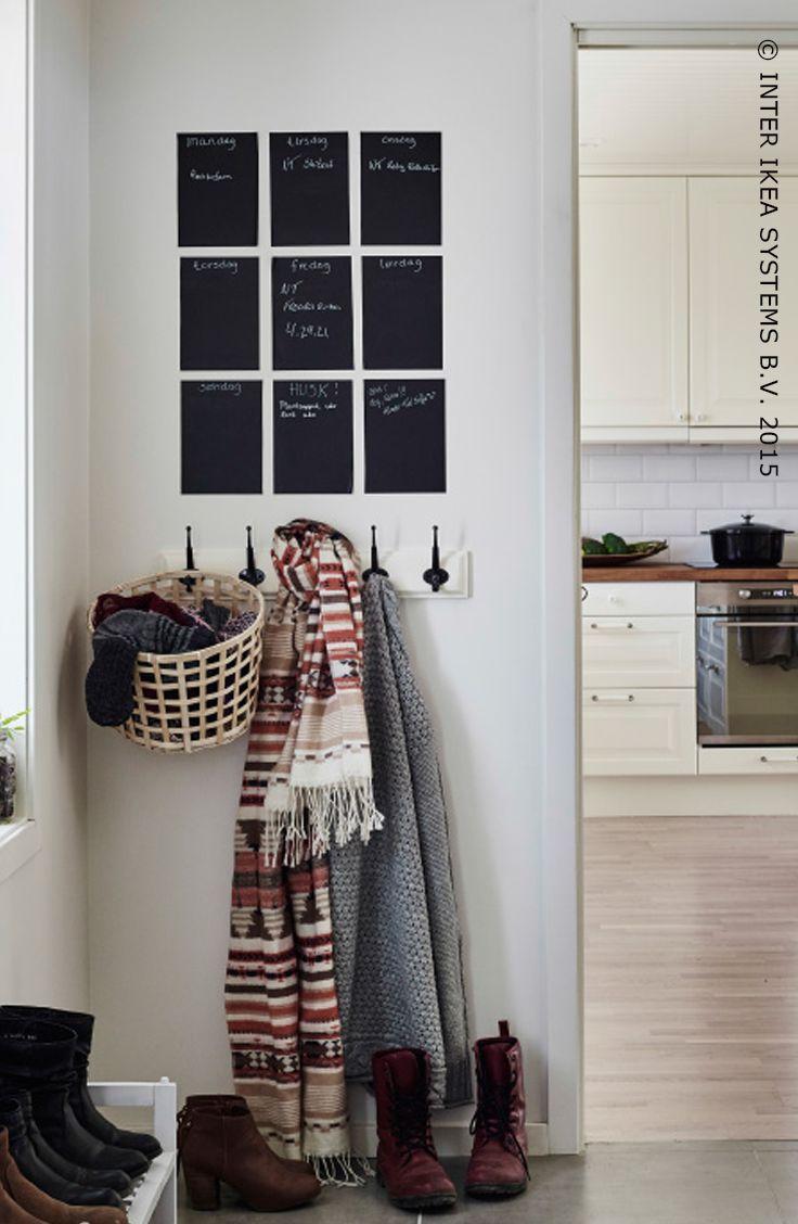 Krijtbord Keuken Ikea : Krijtbord in de hal als geheugensteuntje. #IKEABE #IKEAidee #hal