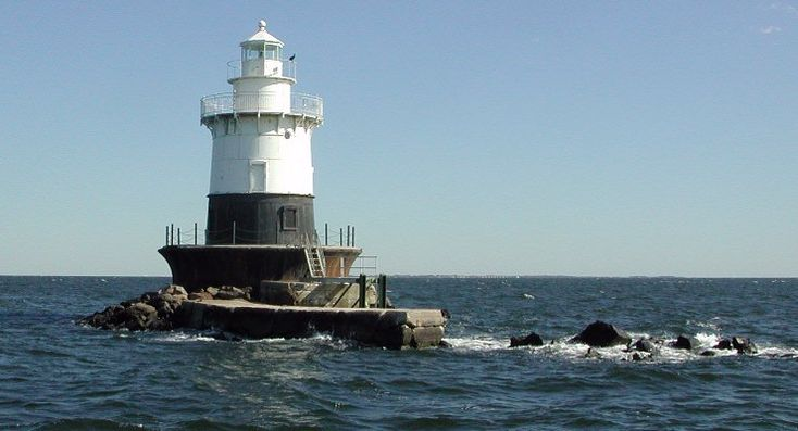 The Old Orchard Lighthouse off the coast of Great Kills Park in Staten Island, New York, before it was blown away by the storm surge from Superstorm Sandy. It stood for almost 120 years as a strong beacon on the Lower Bay, and now it is gone.
