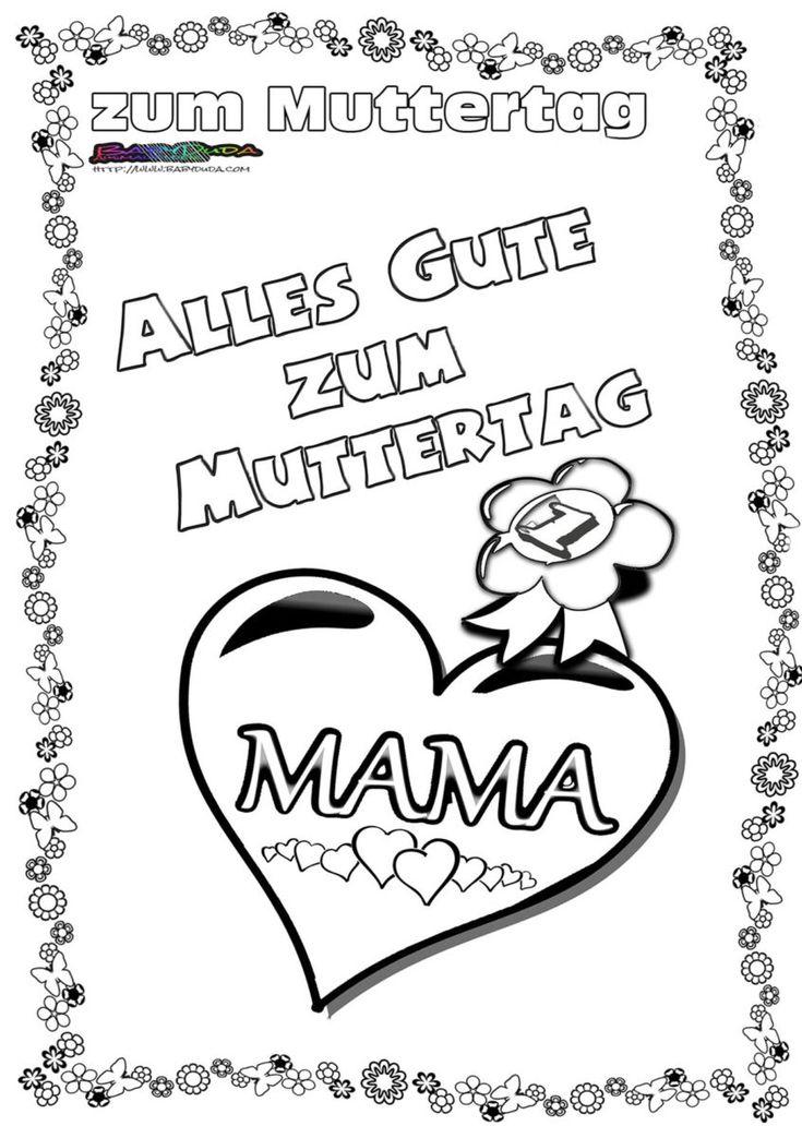 9 besten Muttertag Bilder auf Pinterest   Vatertag, Kinderlieder und ...