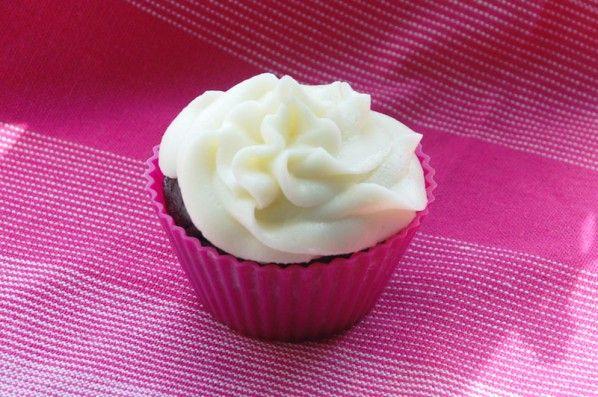 Vanille cupcake glasur