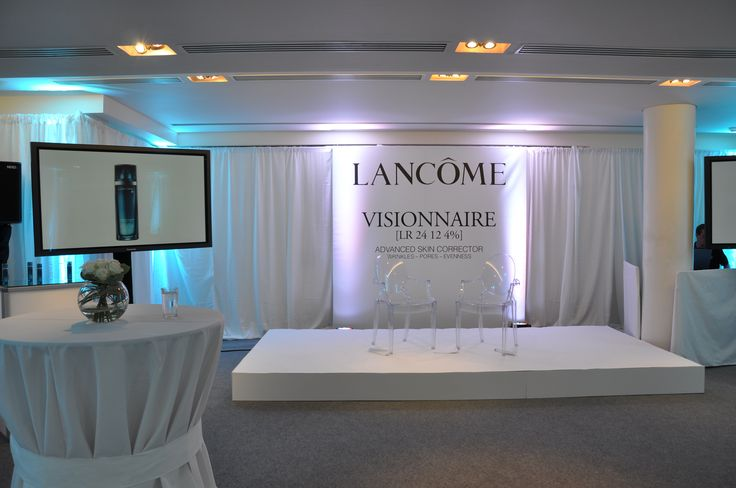 White draping and blue lighting at this Launch event. Visit www.gotchacovered.ie for more!