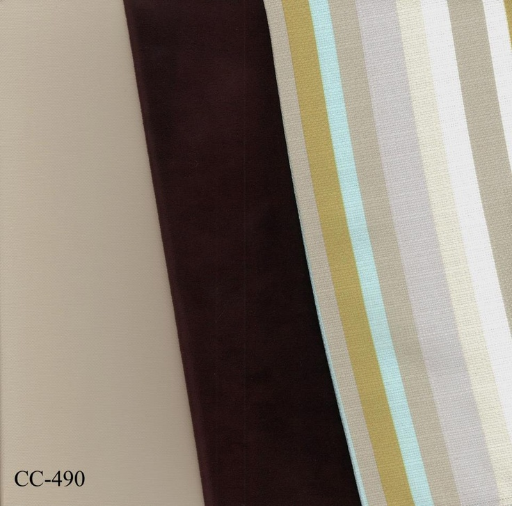 """Benjamin Moore's """"Stone Health"""" colour married with a few of Decor-rest fabrics"""