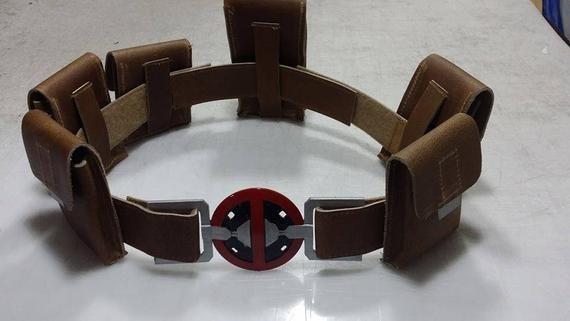 Deadpool Belt Leather Cosplay Costume Prop Accessories Replica Pocket Halloween