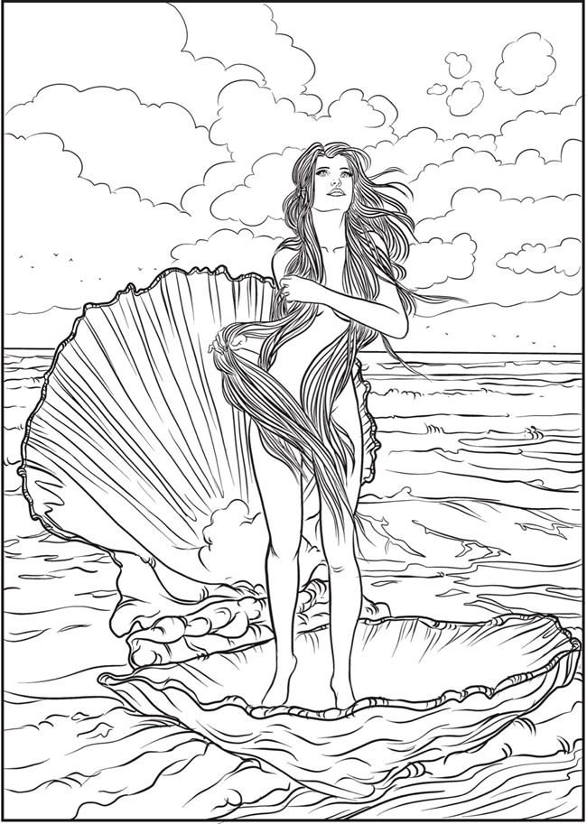 Creative Haven Ocean Fantasies Coloring Book | Dover ...