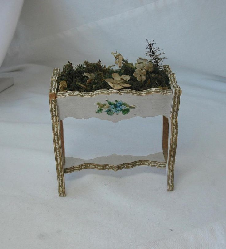 Gottschalk Flower Planter Furniture Miniature Dollhouse Doll German Antique  | EBay
