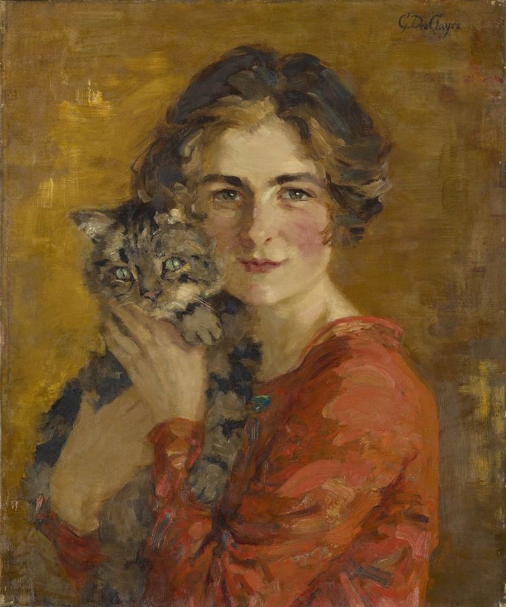 Image result for woman and cat